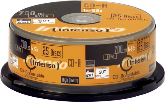 CD-R Intenso 700MB 25pcs Cake Box 52x