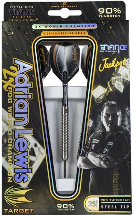 Target Adrian Lewis Gen.3 90% dartpijlen 23 - 25 gram - 25 gram