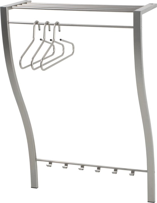 Spinder Design Carve 1 - Wandkapstok -Met 7 haken - Nikkel