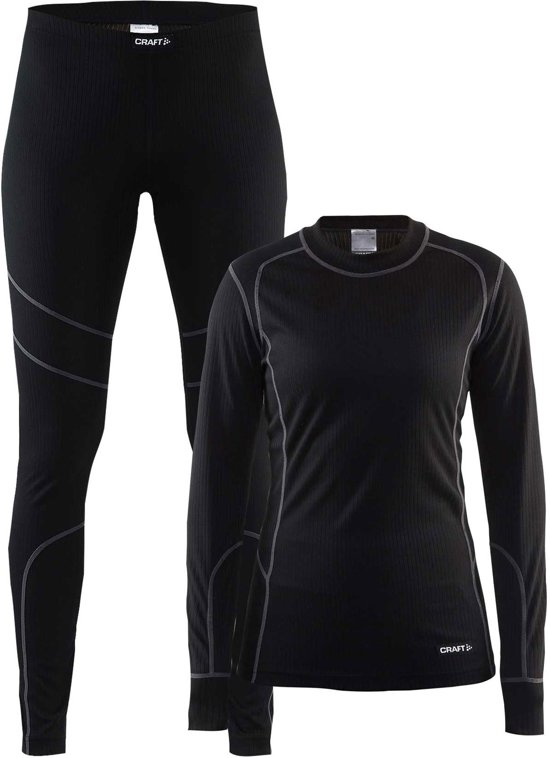 Craft Baselayer Set Thermoset Dames - Black/Granite