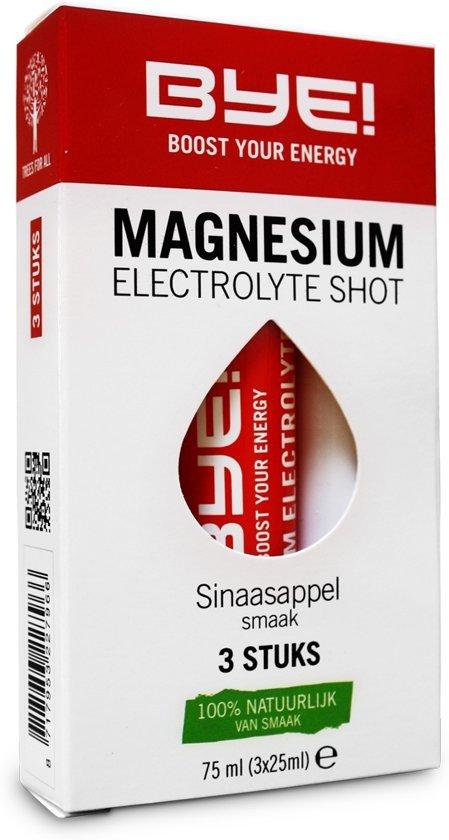 12x BYE! Magnesium Electrolyte Shot - 3 x 25 ml
