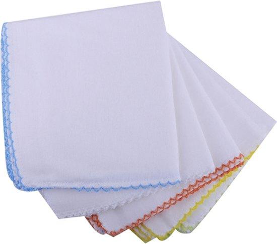 Babyjem Spuugdoekje - Monddoekjes Jersey Wit 10 stuks