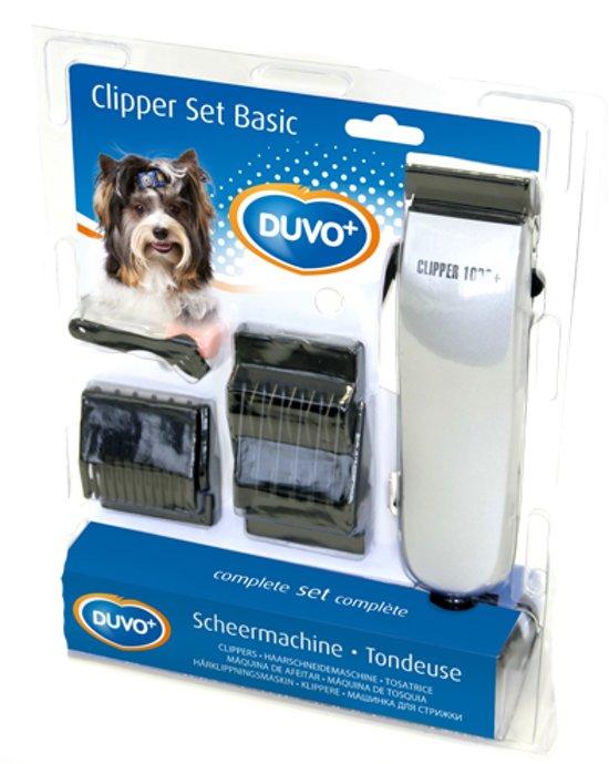 Duvo Clipper Basic Set Hondentondeuse - 4 Opzetstukken