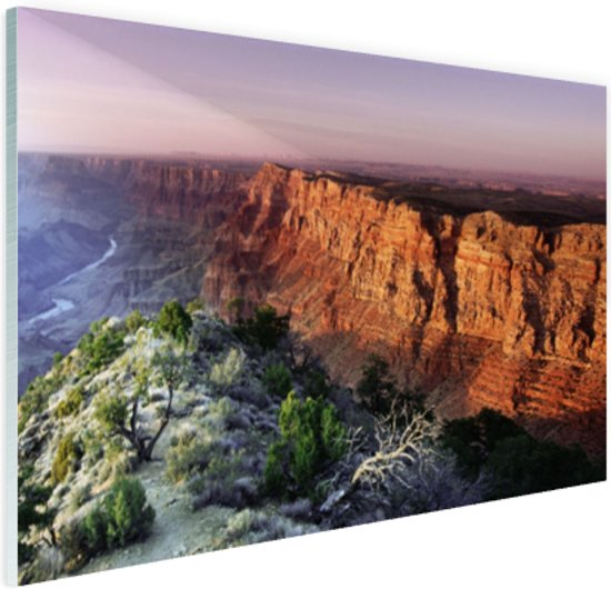 Grand Canyon Arizona  Glas 30x20 cm - Foto print op Glas (Plexiglas wanddecoratie)