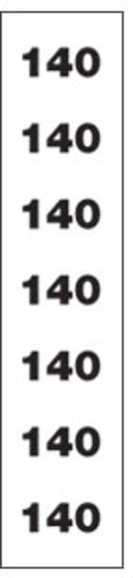 Maatstickers Transparant -maat 140-rol/250st