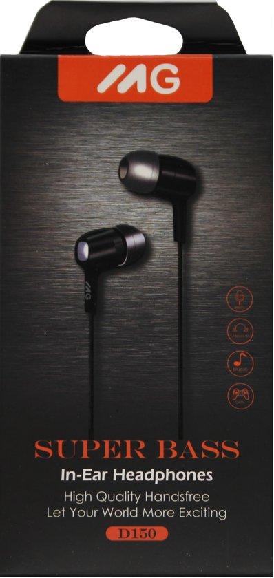 MG In-ear koptelefoon D150- ZWART