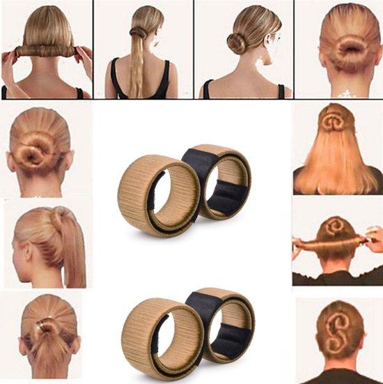 2x Knot Maker - Maak de perfecte haarknot - Bun Maker - Blond