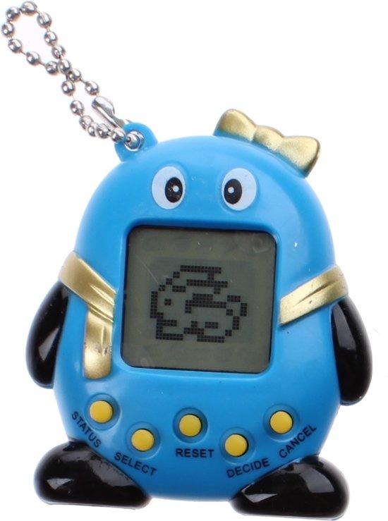 Kids Fun Sleutelhanger Funny Pets Tamagotchi Blauw 5,5 Cm