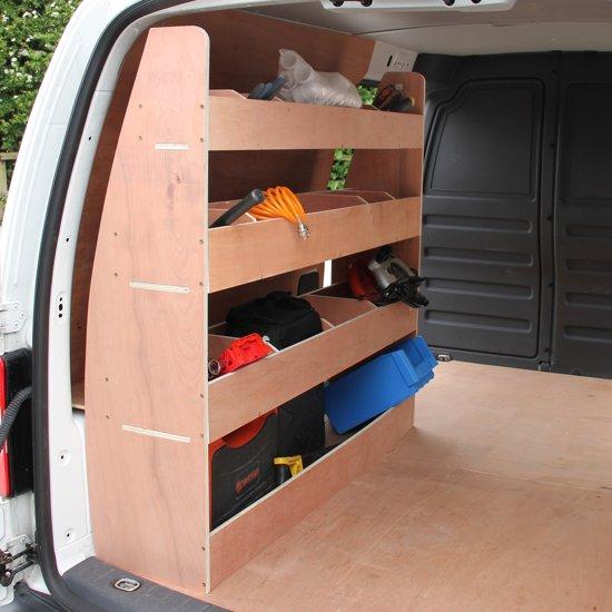 Stelling Van Hout.Volkswagen Caddy Vw Bedrijfswagen Interieur Bestelbus Opslag