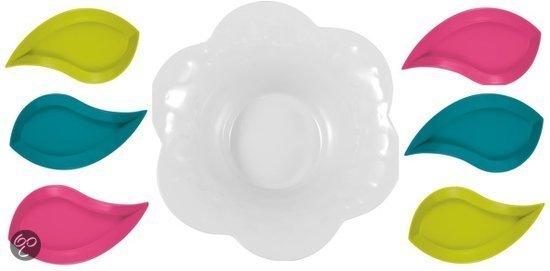 Zak!Designs Aqua Snack- & Tapasschaal - Melamine - Bloem - 7 delig