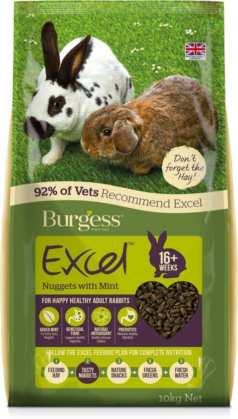 Burgess excel rabbit adult konijnenvoer 2 kg