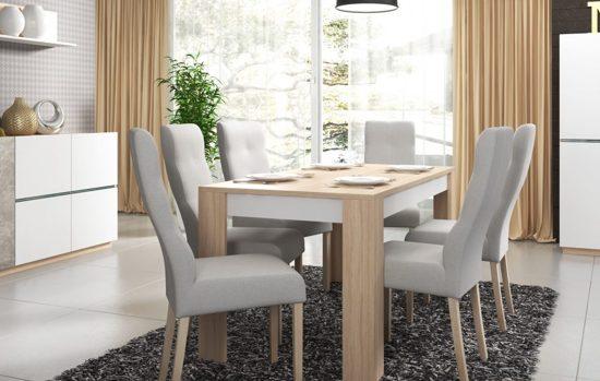 Eettafel Modern Wit.Meubelleader Eettafel Rome Modern Eiken Wit Uitschuifbaar