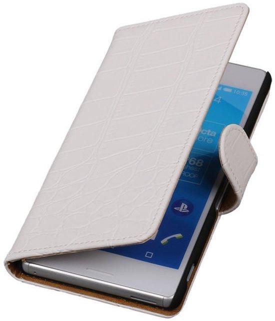 MP Case Wit krokodil bookcase voor Sony Xperia X Performance telefoonhoesje in Wansin