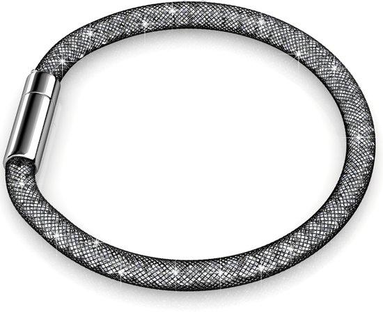 Yolora armband - Swarovski kristal - 19 cm - Black Snake