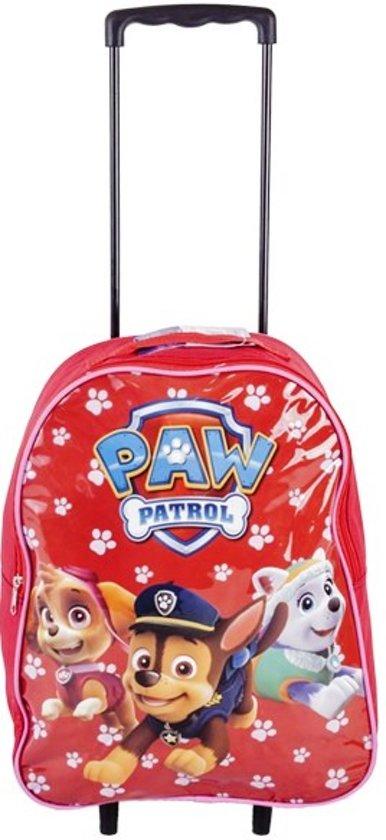 06a35242357 PAW PATROL Sky Everest & Chase Trolley Kinder Koffer Vakantie Logeren Rood
