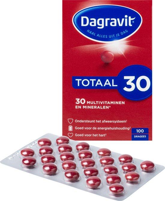 Dagravit Totaal 30 - 100 Dragees - Multivitaminen