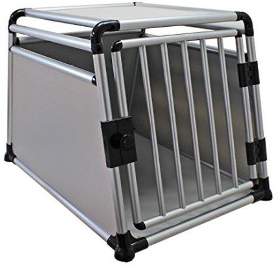 Topmast Transportbox Hondenbox - Aluminium - 91 x 64 x 64 cm