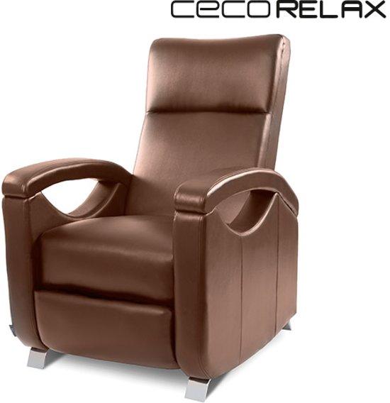 Fauteuil Relax Bruin.Cecorelax 6027 Bruine Push Back Relax Fauteuil Met Massage