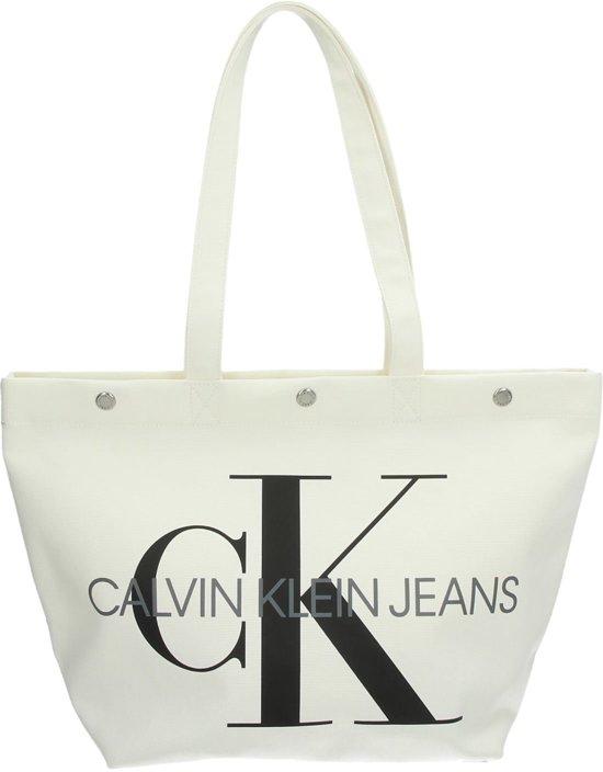 Klein Bright Utility Canvas Calvin White ShopperWit wP0OkXNn8