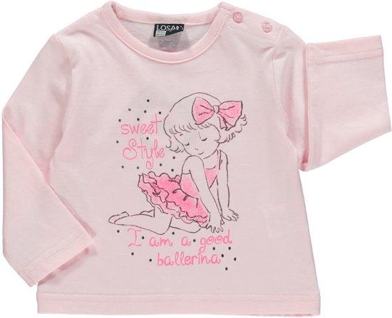Roze Babykleding.Bol Com Losan Babykleding Shirt Roze Met Opdruk Ballerina S51