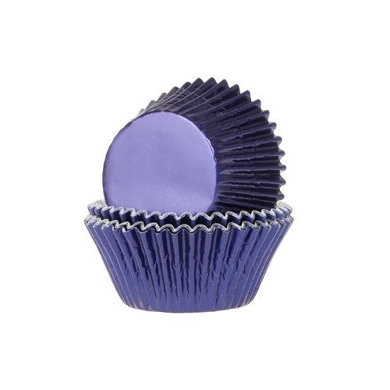 Cupcake Cups Folie Navy Blauw 51x28mm. 24st.