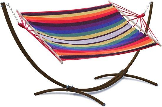 Potenza Indela -Eenpersoons Hangmatset / 1-persoons Hangmat met standaard