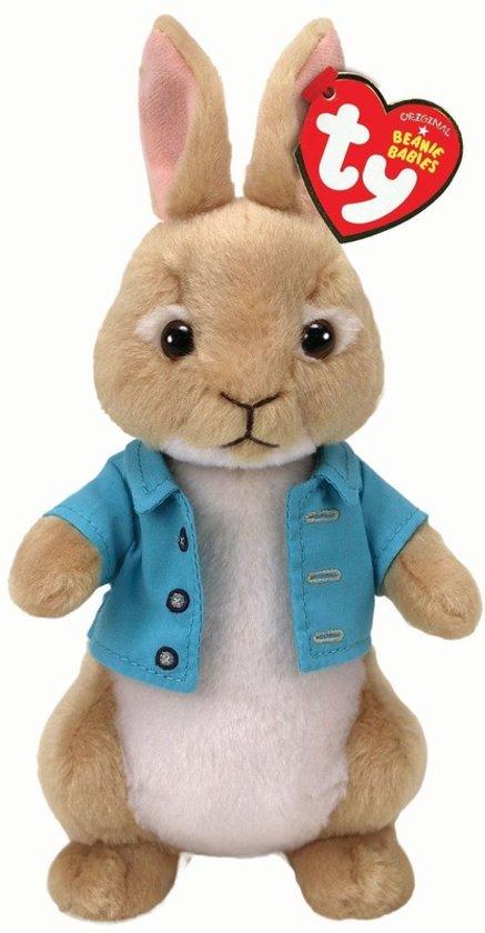 Ty Beanie Peter Rabbit pluche bruine konijn/haas knuffel 15 cm - Pasen - Paashaas speelgoed voor kinderen