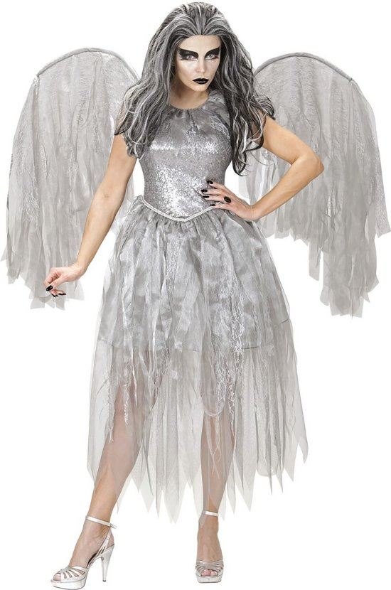 Engel Kostuum | Donkere Engel Argenta | Vrouw | Large | Carnaval kostuum | Verkleedkleding