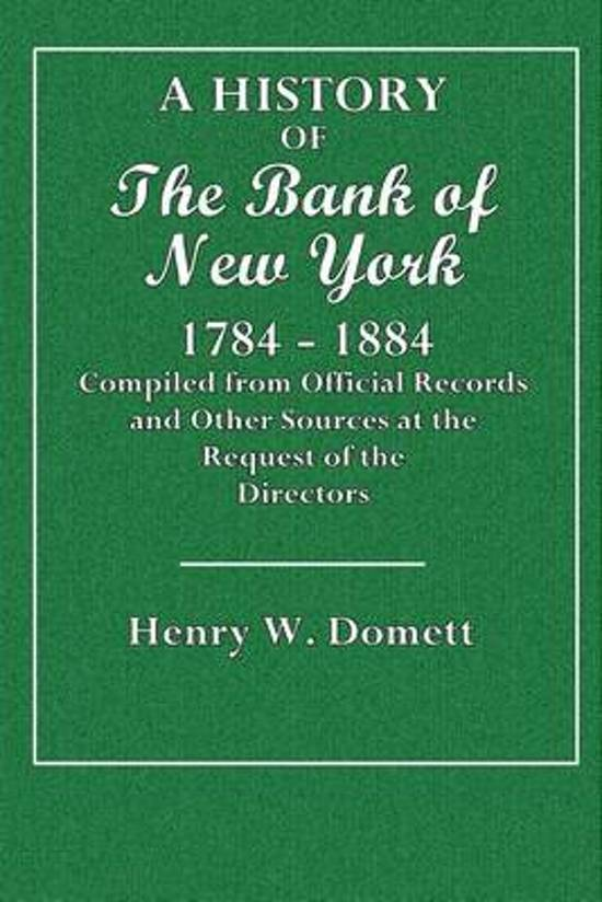 A History of the Bank of New York