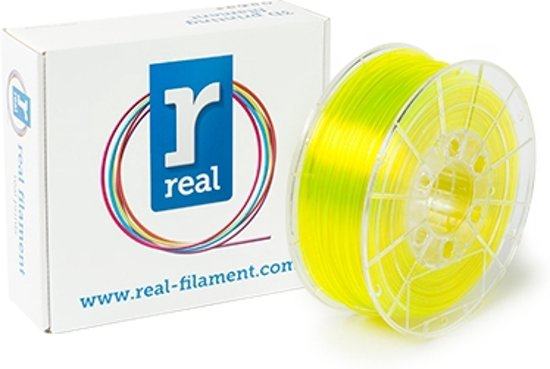 REAL Filament PETG transparant geel 2.85mm (1kg)