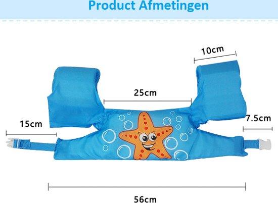 Zwemvest - Kogelvis Design - One Size - Kind - 14-30 KG - 3-7 Jaar