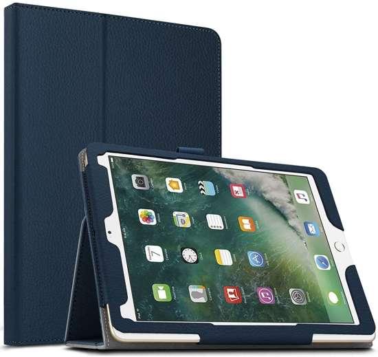Apple iPad Pro 10.5 (2017) Leather Protective Case - Donker Blauw