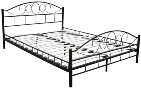 bol vidaxl bed zwart 180 x 200 cm