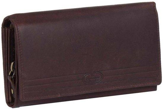 daed7591e0c Chesterfield Overslag Leren dames portemonnee met ritsvak Francis XL Bruin