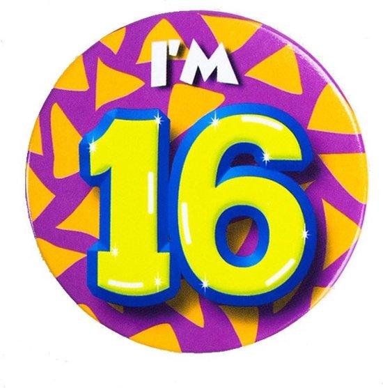 Bol Com I Am 16 Verjaardag Button Merkloos Speelgoed