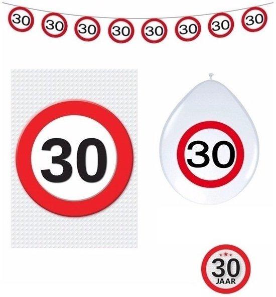 30 jaar verkeersbord versiering basis set for Decoratie 60 jaar