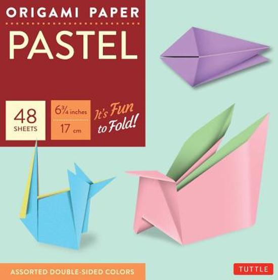 Origami Paper - Pastel Colors - 6 3/4 - 48 Sheets