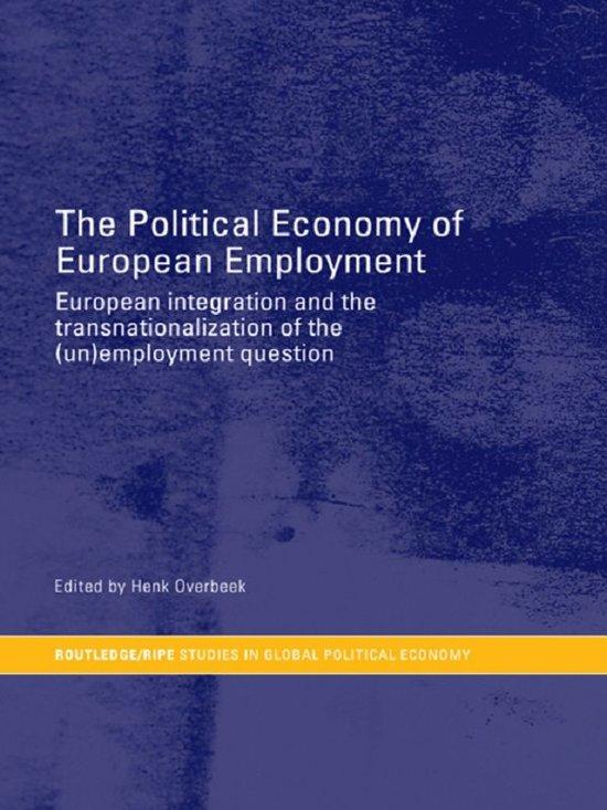 The Political Economy of European Employment