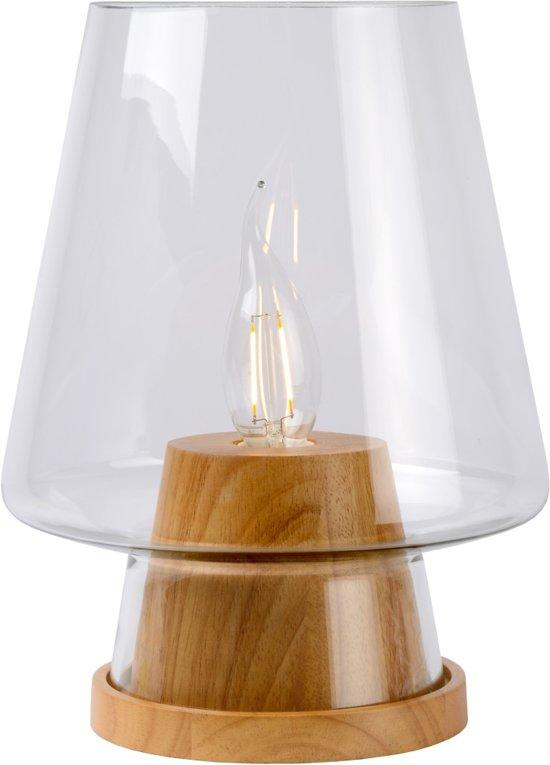 Lucide GLENN - Tafellamp - Ø 19 cm - Licht hout