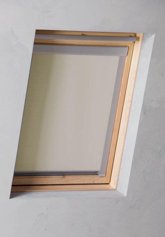 pure living dakraam rolgordijn verduisterend beige 973x94 cm type s06