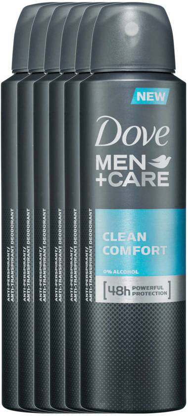 Dove Men+Care Clean Comfort Deodorant- 150 ml - 6 stuks