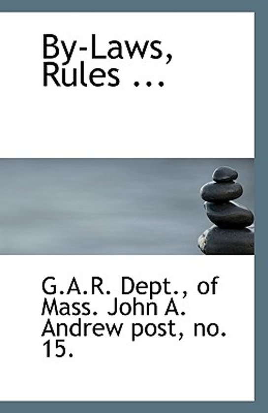 By-Laws, Rules ...