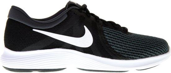 Nike Revolution 4 EU Sneakers Dames - Black/White-Anthracite - Maat 38.5