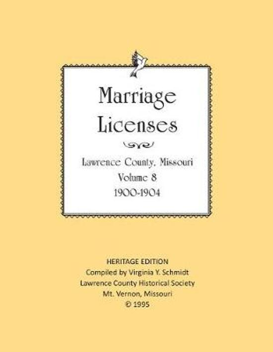 Lawrence County Missouri Marriages 1900-1904