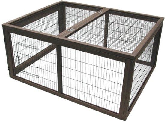 konijnenren donker bruin 120 x 95 x 56 cm