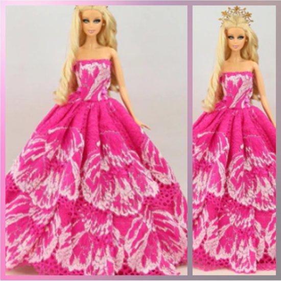 Barbiekleding - 5 fashion outfits voor modepoppen - Barbie trouwjurk - set van 5 barbie jurken - Nieuwe premium Trouwjurken - kleding Voor Barbie pop - Bruidsjurk - 5 stijlvolle jurken - bruidsjurken - Iconproduct