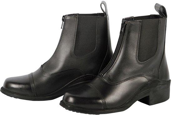 Jodhpur leder Zipper zwart 39