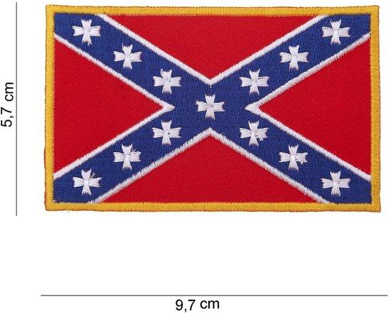Verbazingwekkend bol.com | Opnaai embleem Rebel vlag van stof FA-98