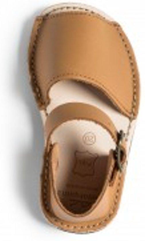 9e8e21351d8e51 Menorquina-spaanse sandalen-avarca-kinder-cognac-hielbandje-maat 24