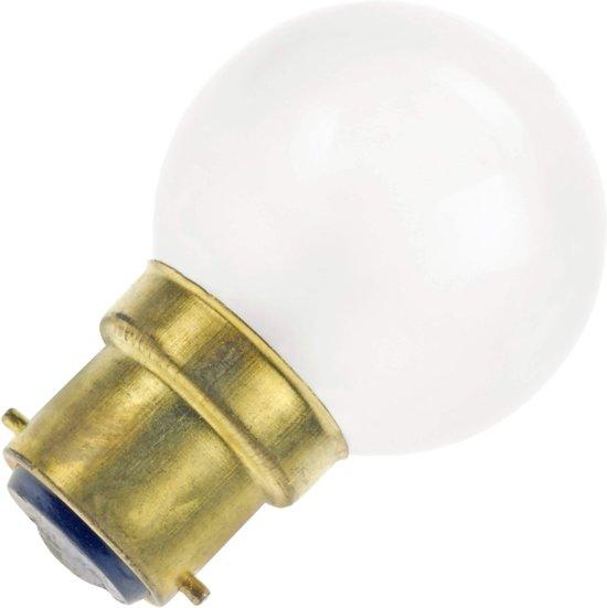 Kogellamp mat 25W bajonet fitting B22d